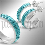925 Sterling Silver Zirconia Crystal Earring