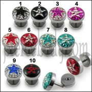 Crystal stone Satr Fake Ear Plug