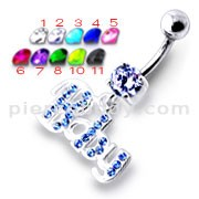 Fancy BABY Jeweled Dangling Belly Ring