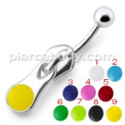 Colorful Rexine Zip Dangling Belly Ring