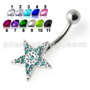 Star Silver Belly Ring