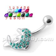 Dolphin Silver Belly Ring