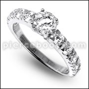 Multi Cubic Zirconia Jeweled Fashion Silver Ring