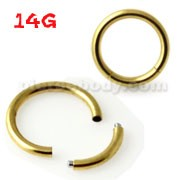 14G Gold Anodized Segment Rings