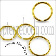 Anodized Gold Nose Hoop Ring