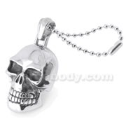 Stainless Steel Laughing Skull Pendant