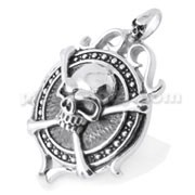 Stainless Steel skeleton shield Pendant