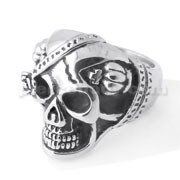 Skull with Crown finger ring