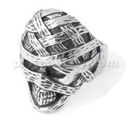 Mummy Skull finger ring