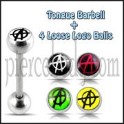 Tongue Bar With Free 4 Pices Interchange Logo Ball Tongue