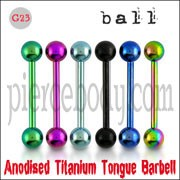 Titanium Anodised Straight Barbell