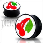 Double Flared Cherry Logo Ear Plug