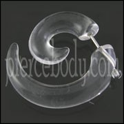 Transparent Spiral Fake Ear Plug