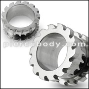 Saw Blade Screw Fit Flesh Tunnel