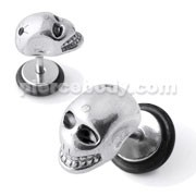 SS Laughing Skull Fake Ear Plug