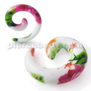 Spiral Hand Painted Beach Ear Taper Expander
