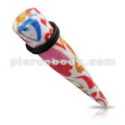 Mix Color Straight Ear Expander Taper Plug Body Jewelry ZER483