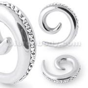 Diamond Clear Jeweled Spiral Expander