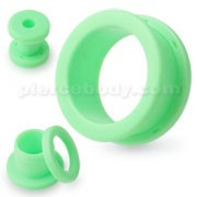 Neon Colored Green Screw Fit Ear Flesh Tunnel