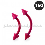 Neon Rose 316L Surgical Steel Curved Barbells with Cone