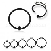 Black PVD Surgical Steel Flexible BCR Piercing