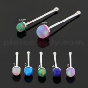 Opal Stones 925 Sterling Silver Nose Bone
