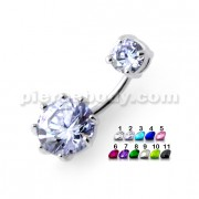 Round Jeweled Spinal navel rings