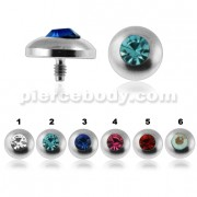 Bezel Set Jeweled Dermal Anchor Tops | Dermal Anchors