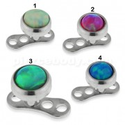 Opal Stone Top Dermal Anchor Piercings