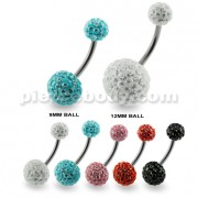 Multi Jeweled Genuine CZ belly piercing