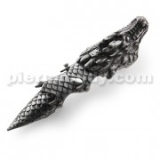 Full Finger Pewter Dragon Armor Ring