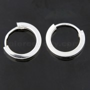 925 Sterling Silver 12 mm Round Hoop Earring