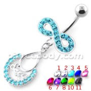 Sexy Infinity Dangling Belly bar