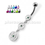 Dangling Gears Navel Belly Piercing