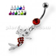 Dancing Mermaid Navel Belly Button Piercing