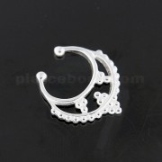 925 Sterling Silver Tribal Dots Fake Septum Piercing
