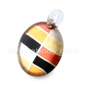 Multi Color Painted Glass Pendant