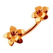 Plain Plumeria Flowers Spinal Belly Button Ring