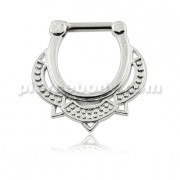 Tribal Dotted Pattern Septum Clicker