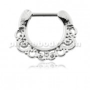 Tribal Swirls Piercing Septum Clicker