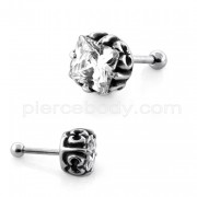 Square Jeweled Casting Invisible Ear Plug