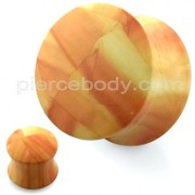 Marble Pattern UV Acrylic Double Flared Saddle Plug