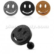 PVD Plated Glittering smiley Tragus Piercing