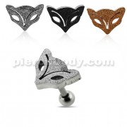 PVD Plated Glittering Fox Tragus Piercing