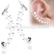Ear Cuff Piercing Wrap Multi Stars Cartilage Clip on Piercing Ear rings