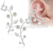Floral Vine Ear Cuff Wrap Cartilage Clip on Piercing Ear rings