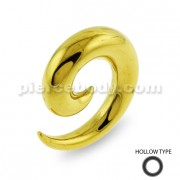 Gold PVD Platted Over Hollow Surgical Steel Ear Expander
