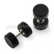 Organic Black Wood Fake Ear Plug