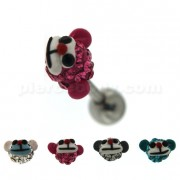Multi Jeweled Monkey Face Cartilage Tragus Piercing Ear Stud