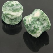 Colorful Synthetic Moss Agate Stone Saddle Ear plug Gauges